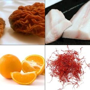 Black Cod with Citrus - Saffron - and, of course Morels